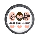 Peace Love Mozart Wall Clock