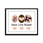 Peace Love Mozart Framed Panel Print