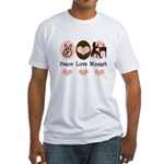 Peace Love Mozart Fitted T-Shirt