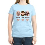 Peace Love Mozart Women's Light T-Shirt