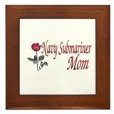 navy submariner mom rose Framed Tile