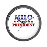 MILO for president Wall Clock