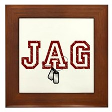 jag stars and stripes 4 Framed Tile