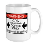 Personalized CPA with attitude Large Mug