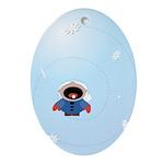 Seasonal Oval Ornament