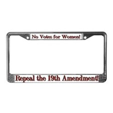 Repeal the 19th Amendment License Plate Frame