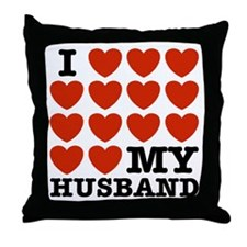 I Love My Husband Throw Pillow