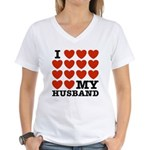 I Love My Husband Women's V-Neck T-Shirt