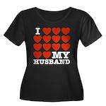 I Love My Husband Women's Plus Size Scoop Neck Dar
