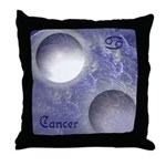 Cancer-2moons Throw Pillow
