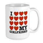 I Love My Girlfriend Large Mug