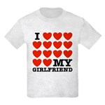 I Love My Girlfriend Kids Light T-Shirt