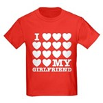 I Love My Girlfriend Kids Dark T-Shirt