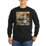 Domestic Flights Three Long Sleeve Dark T-Shirt