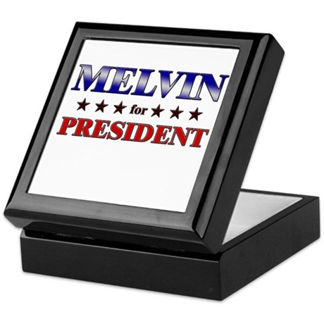 MELVIN for president Keepsake Box