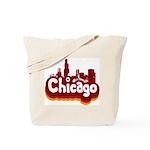 Retro Chicago Tote Bag