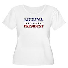 MELINA for president T-Shirt
