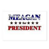 MEAGAN for president Postcards (Package of 8)