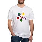 Six Symbols Against Bush Fitted T-Shirt