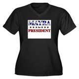 MAYRA for president Women's Plus Size V-Neck Dark