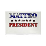 MATTEO for president Rectangle Magnet (10 pack)