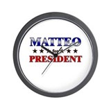MATTEO for president Wall Clock