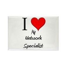 I Love My Network Specialist Rectangle Magnet (10