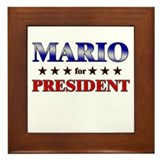 MARIO for president Framed Tile