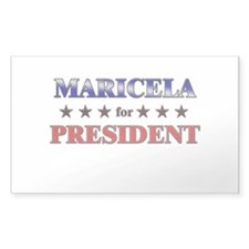 MARICELA for president Rectangle Decal