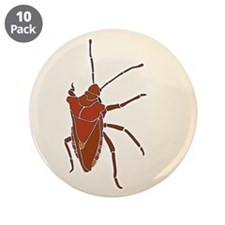 "Big Stink Bug 3.5"" Button (10 pack)"