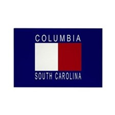 Cute Red white and blue Rectangle Magnet
