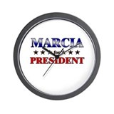 MARCIA for president Wall Clock