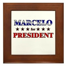 MARCELO for president Framed Tile