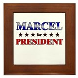 MARCEL for president Framed Tile