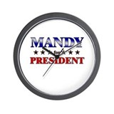 MANDY for president Wall Clock