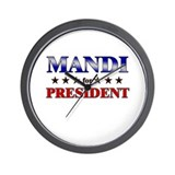 MANDI for president Wall Clock
