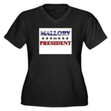 MALLORY for president Women's Plus Size V-Neck Dar