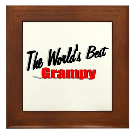 """The World's Best Grampy"" Framed Tile"