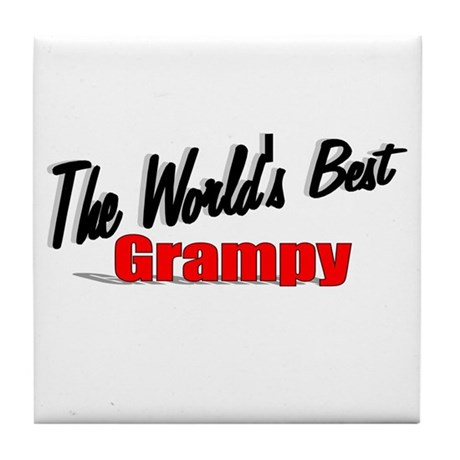 """The World's Best Grampy"" Tile Coaster"