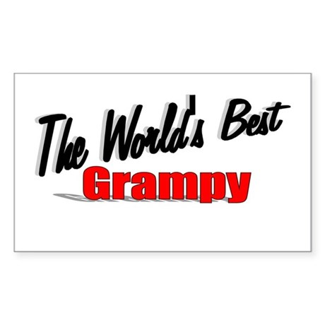 """The World's Best Grampy"" Rectangle Sticker"