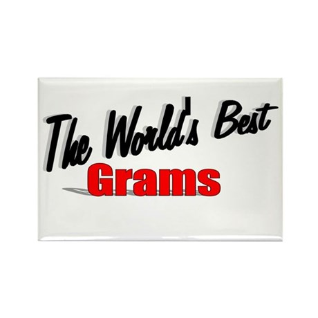 """The World's Best Grams"" Rectangle Magnet"