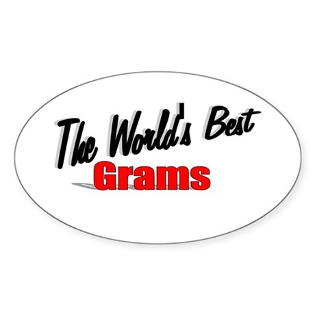 """The World's Best Grams"" Oval Sticker"