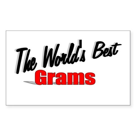 """The World's Best Grams"" Rectangle Sticker"