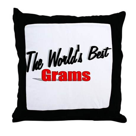 """The World's Best Grams"" Throw Pillow"