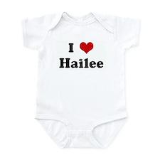 I Love Hailee Infant Bodysuit
