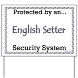 English Setter Security  Yard Sign