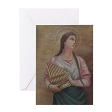 Single St. Cecilia Greeting Card (blank)