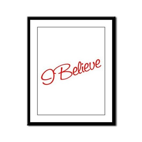 I believe Framed Panel Print