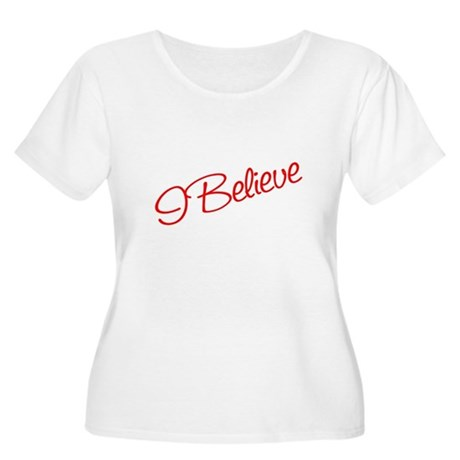 I believe Women's Plus Size Scoop Neck T-Shirt