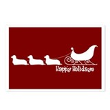 "L. Doxie ""Sleigh"" Postcards (Package of 8)"